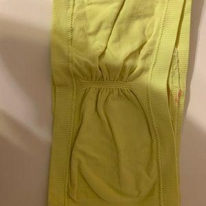neon yellow bandeau